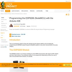 Programming the ESP8266 (NodeMCU) with the Arduino IDE