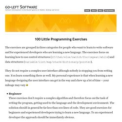100 Little Programming Exercises – go-left Software