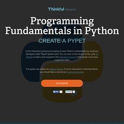 [PYTHON] Fundamentals: Creating a Pypet