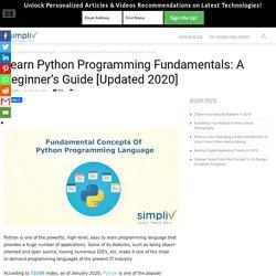 Learn Python Programming Fundamentals: A Beginner's Guide [Updated 2020] - Simpliv Blog