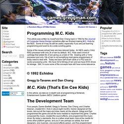 Programming M.C. Kids
