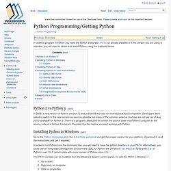 Python Programming/Getting Python