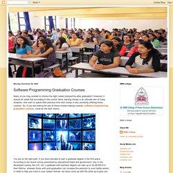 Software Programming Graduation Courses