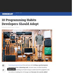 10 Programming Habits Developers Should Adopt
