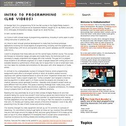 Intro to Programming (Lab Videos)