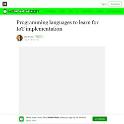 Programming languages to learn for IoT implementation
