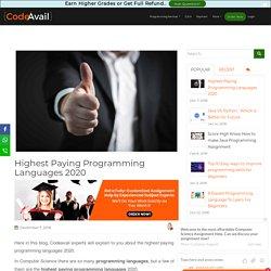 highest paying programming languages 2020 [Infographic]