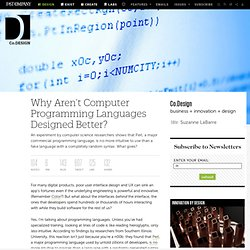 Programming Languages (critique)