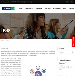 PHP Training Institute in Bangalore