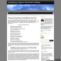 Intentialicious: Markus Strohmaier's Weblog