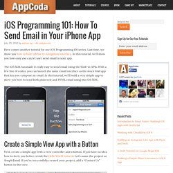 iOS Programming 101: How To Send Email in iPhone App with MessageUI
