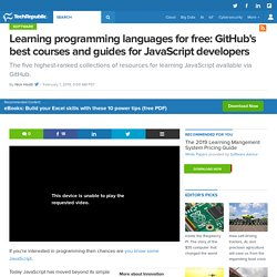 Learning programming languages for free: GitHub's best courses and guides for JavaScript developers
