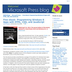 Free ebook: Programming Windows 8 Apps with HTML, CSS, and JavaScript - Microsoft Press