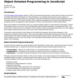 Object Oriented Programming in JavaScript