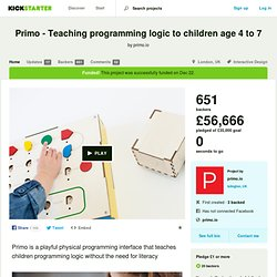 Primo - Teaching programming logic to children age 4 to 7 by primo.io