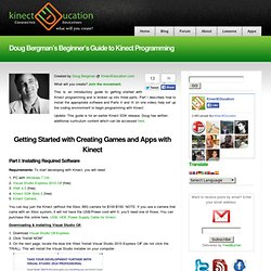 Doug Bergman's Beginner's Guide to Kinect Programming