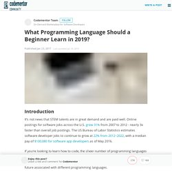 What Programming Language Should a Beginner Learn in 2016?