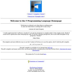 F Programming Language Homepage