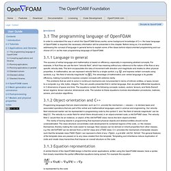 The programming language of OpenFOAM