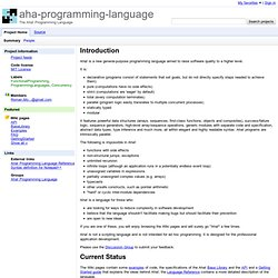 aha-programming-language - Aha! Programming Language