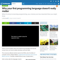 Why your first programming language doesn't really matter