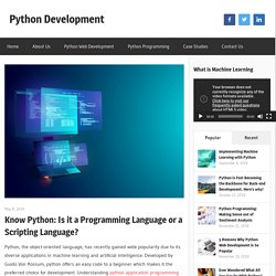 Know Python: Is it a Programming Language or a Scripting Language?