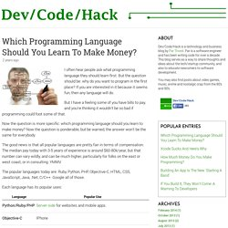 Which Programming Language Should You Learn To Make Money?