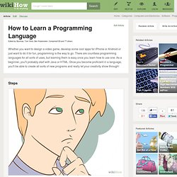 How to Learn a Programming Language: 7 steps