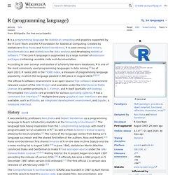 R (programming language) - Wikipedia