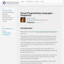 Visual Programming Languages - Snapshots