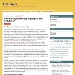 Visual Programming Languages and Ardublock