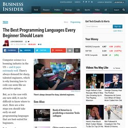Best Programming Languages Beginners Should Learn