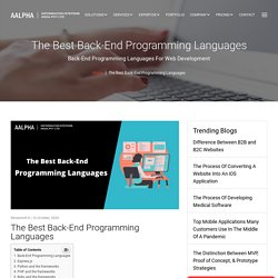 The Best Back-End Programming Languages