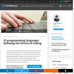 13 programming languages defining the future of coding