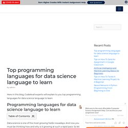 Top programming languages for data science language to learn