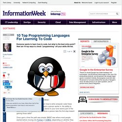 10 Top Programming Languages For Learning To Code
