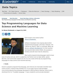 Top Programming Languages for Data Science and Machine Learning