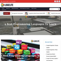 9 Best Programming Languages To Learn - Logelite