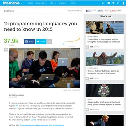 15 programming languages you need to know in 2015