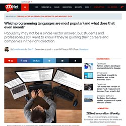 Which programming languages are most popular (and what does that even mean)?