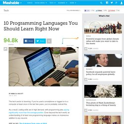 10 Programming Languages You Should Learn in 2014