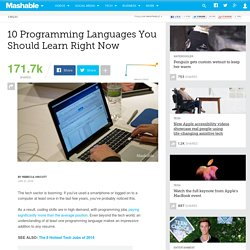 10 Programming Languages You Should Learn Right Now