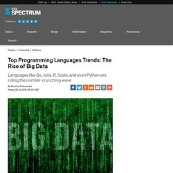 Top Programming Languages Trends: The Rise of Big Data