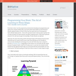 Programming Your Brain: The Art of Learning in Three Steps