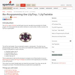 Re-Programming the LilyTiny / LilyTwinkle