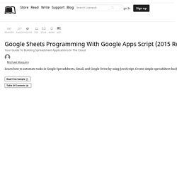 Google Sheets Programming… by Michael Maguire