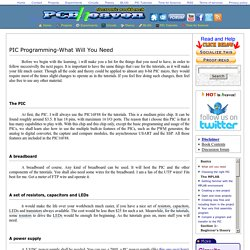 PIC Programming-What Will You Need - Microchip PIC microcontroller