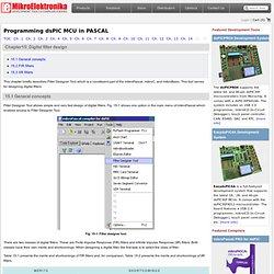 Chapter 15: Digital filter design - Book: Programming dsPIC MCU in PASCAL - mikroElektronika - Waterfox