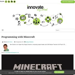 Programming with Minecraft