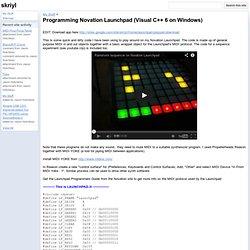 Programming Novation Launchpad (Visual C++ 6 on Windows) - skriyl